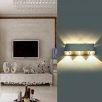 Glighone Lampe Murale Moderne 6 LED 6W en Aluminium Eclairage Décoratif Lumière Economie d'Energie Interieur pour Maison Couloir Salon Chambre Blanc Chaud de la marque Glighone image 2 produit