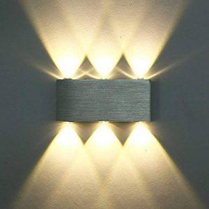 Glighone Lampe Murale Moderne 6 LED 6W en Aluminium Eclairage Décoratif Lumière Economie d'Energie Interieur pour Maison Couloir Salon Chambre Blanc Chaud de la marque Glighone image 0 produit