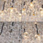 Glighone Lustre en Cristal Led E14 40W Moderne Carré Gouttelette Plafonnier Gouttelette Luminaire Chandelier Eclairage Baroque Suspendu Lumière Pendentif Pour Cusine Salon Salle à Manger Chambre Bureau Bar Resteaurant Bibliothèque de la marque Glighone image 4 produit