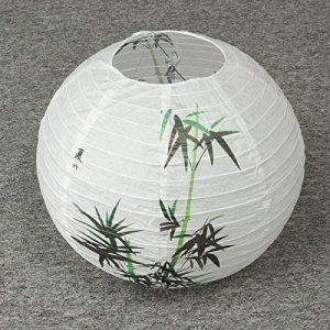 Global 35 CM chinois bambou rond papier lanterne abat-jour Oriental décoration de la maison de la marque Global image 0 produit