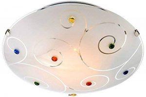 Globo 40983–1Fauve Plafonnier, verre, Opale de la marque Globo image 0 produit
