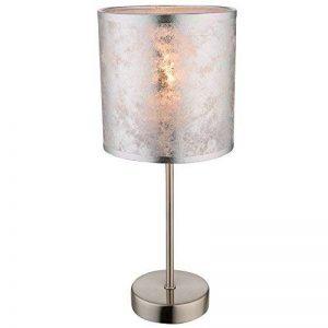 Globo Lampe de Table Chambres Lecture Lampe Argent Abat-Jour en Tissu Nuit de lumière commutable 15188t de la marque Globo image 0 produit