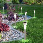 Globo plafonnier LED en acier inoxydable/Lampes de jardin extérieur à énergie solaire en plastique, lot de 6 de la marque Globo image 2 produit