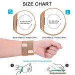 Gogoings Bracelet pour Fitbit Charge 3 - Bracelet Fitbit Band Sport Réglable en Acier Inoxydable Compatible avec Fitbit Charge3 pour Femme & Homme (sans Montre) de la marque image 4 produit