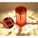 Gosear®Lampe Touch Sensor Cabine Téléphonique de Londres Vintage Conçu USB charge LED Table Bureau Veilleuse Luminosité Réglable Pour Chambre étudiants Dortoir Bar Décoration Birthday Gift de la marque Gosear image 3 produit