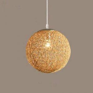 GQLB La Commission Lustre Lampe boule Lampe de salon Art et rotin ,200mm Ficelle de sisal de la marque GQLB image 0 produit