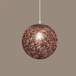 GQLB La Commission Lustre Lampe boule Lampe de salon Art et rotin ,250mm Ficelle de sisal de la marque GQLB image 0 produit