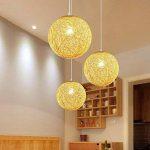 GQLB La Commission Lustre Lampe boule Lampe de salon Art et rotin ,250mm Ficelle de sisal de la marque GQLB image 1 produit