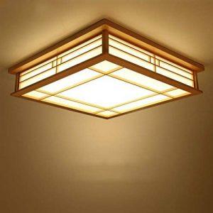 GQLB Plafonnier Japonais En Bois Led Light Lampe Tatami 350 * 350 * 120Mm Eclairage De Style Japonais En Bois Salon Chambre À Coucher Balcon 18W Lumière, Lumière Chaude de la marque GQLB image 0 produit