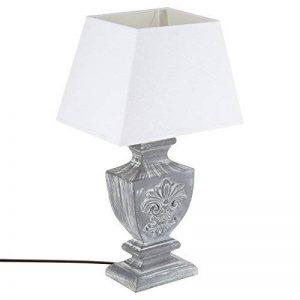 Grande lampe à poser - Esprit charme d'autrefois - Coloris GRIS patiné de la marque Atmosphera image 0 produit