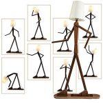 grande lampe sur pied en bois TOP 2 image 2 produit