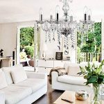 grapest Plafonnier Chambre/Salon/Cuisine Design de Fusion de Moderne et Vintage Lustre Cristal Lumière Baroque Pendentif de la marque grapest image 4 produit