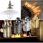GreenSun Douille de lampe en alu pour ampoule LED Edison E27, Douille de plafonnier, Douille, Culot, Pied de lampe rétro vintage, Support pour lampes à suspension, Adaptateur plafonnier, Éclairage, Socle de la marque GreenSun LED Lighting image 3 produit