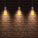 GreenSun LED Lighting 6 Pack Edison Douille Vintage E27 Adaptateur De Lampe Rétro Lustre Sans Fil En Céramique à L'intérieur 110-240V Noir de la marque GreenSun LED Lighting image 4 produit