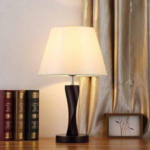 GRY Lampe de table simple moderne, lampe de chevet en bois, petite veilleuse, interrupteur à bouton, E27, 220V, 30 * 30 * 48.5Cm de la marque GRY image 0 produit