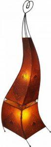 Guru-Shop Henné - Lampadaire en Cuir/Lampadaire Mauretania 118 cm, Jaune, Couleur : Jaune, Henna - Lampadaires Lampe de Table en Cuir de la marque Guru-Shop image 0 produit