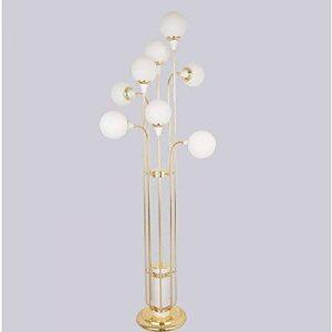 GUTOU-LDD Lampe Sur Pied De Salon.Lampadaire Mode Simple Long Verre Boule Chambre Étude Chambre D'Hôtel Chaud Et Frais Lampadaire Led Luminaire Led Lampes Haute: 170Cm de la marque GUTOU-LDD image 0 produit