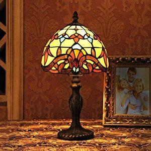 Gweat 8 Pouces Baroque Européenne Tiffany Lampe De Table Chambre Lampe Lampe De Chevet de la marque Gweat Tiffany image 0 produit