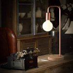 Gweat Nordique Minimaliste Style Simple Mode Chaud En Bois Base Fer Lampe De Bureau Creative Lampe De Table Lampe Intérieure Pour Chambre Étude Salon ( Couleur : Or rose ) de la marque Gweat image 3 produit