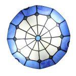 Gweat Tiffany 12-Pouce Pastorale Style Européen Vitrail Série Méditerranéenne Flush Mount Ceiling Light lumière pendante Dining Room Lumière de la marque Gweat Tiffany image 2 produit