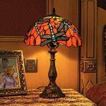 Gweat Tiffany 12 Pouces Vintage Style Européenne Vitrail Dragonfly Et Perle Chaud Coloré Série Lampe De Lampe De Tablee De Bureau Lampe De Chevet de la marque Gweat Tiffany image 1 produit