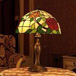 Gweat Tiffany 16 Pouces Style Pastoral Stained Glass Rose Série Lampe De Table Chambre Lumière de la marque Gweat Tiffany image 2 produit