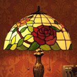 Gweat Tiffany 16 Pouces Style Pastoral Stained Glass Rose Série Lampe De Table Chambre Lumière de la marque Gweat Tiffany image 3 produit