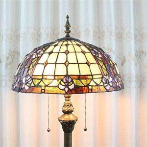Gweat Tiffany Lampadaire en verre teinté à la main créatif de luxe de style pastoral européen de Magnolia de 16 pouces de la marque Gweat Tiffany image 0 produit