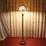 Gweat Tiffany Lampadaire en verre teinté à la main créatif de luxe de style pastoral européen de Magnolia de 16 pouces de la marque Gweat Tiffany image 2 produit