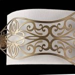 H? bsche Applique murale Style maison de campagne, métal doré, Wei? Il Abat-jour Coton excl. E142x 40W, 220–240V de la marque Maytoni image 3 produit