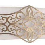 H? bsche Applique murale Style maison de campagne, métal doré, Wei? Il Abat-jour Coton excl. E142x 40W, 220–240V de la marque Maytoni image 4 produit