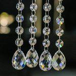 H & D 10brins décoratifs Lustre Cristaux Ornement supplémentaire avec 38mm goutte d'eau Cristal et perles de cristal Octagon de la marque Inconnu image 2 produit
