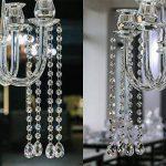 H & D 10brins décoratifs Lustre Cristaux Ornement supplémentaire avec 38mm goutte d'eau Cristal et perles de cristal Octagon de la marque Inconnu image 3 produit