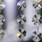 H & D 10brins décoratifs Lustre Cristaux Ornement supplémentaire avec 38mm goutte d'eau Cristal et perles de cristal Octagon de la marque Inconnu image 4 produit