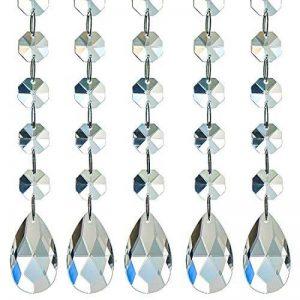 H & D 10brins Lustre en cristal clair Perles Chaîne Mariage avec goutte d'eau à suspendre pour Home Party Décoration de table de la marque Inconnu image 0 produit
