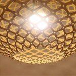 H&M Eclairage de plafond Luminaires Lustre Suspension Vintage en bois creux circulaire lustre Inn and Cafe Eclairage Lustres de la marque H&M Luminaires Intérieur Lustres image 4 produit