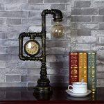 H&M Lampes de bureau Vintage industriel lampe de table rustique fer forgé tuyau d'eau Style Chambre Salon Cafe Bar lampe de chevet Desk de la marque H&M Lampes de bureau image 1 produit