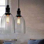 hahaemall intérieur vintage lampe à suspension Mini pendentif lumière Big Bell Abat-jour en verre (Ampoules non incluses) de la marque Hahaemall image 1 produit