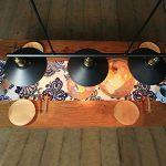 Hahaemall Suspension à 3 lampes avec poulie en fer effet rétro Noir de la marque Hahaemall image 4 produit