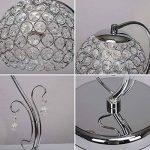 HALORI Lampe de table en cristal moderne, chrome en métal, perle artisanale, salon, chambre à coucher, lampe de chevet / E27 (argent) de la marque HALORI image 2 produit