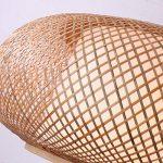 Hanamaki Tropical Bambou Lustre Bricolage en Osier Rotin Lampe Nuances Weave Hanging Light de la marque Hanamaki image 2 produit