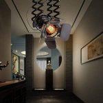 Hansemay Cru Industriel Style plafonnier Spot E27 lustre Rétro Lampe Applique Murale pour pendentif pour café Bar Salle à manger (Ampoules non comprises) de la marque Hansemay image 3 produit