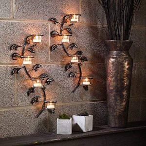 Hashcart — Bougeoir suspendu mural décoratif — Photophore pour bougie votive (Lot de 2) — 43cm de la marque Hashcart image 0 produit