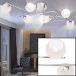 Haute qualité LED plafonnier verre boules blanc spotlight éclairage G9 lampe spot courbé de la marque Globo image 1 produit