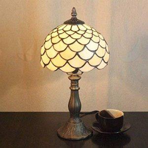 HDO 8 pouces Vintage pastoral vitrail Tiffany lampe de table lampe de chevet lampe de chevet de la marque HDO lampe de table image 0 produit