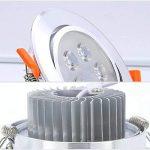 Hengda 12X 7W Spot à encastrer LED Dimmable à émerillon 30 degrés Spot encastrable design pour hall d'entrée Living aluminium satiné Lampe blanc chaud IP44 de la marque Hengda image 2 produit