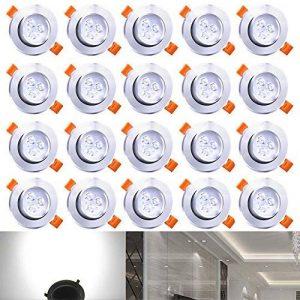 Hengda® 20X downlight 3W luces de techo adecuados para la iluminación de baño residencial 210 lúmenes blanco frío del punto del techo LED de la marque Hengda® Blanc 3W Spots Encastrables Projecteur de plafond LED Projecteur Encastré Lampe image 0 produit