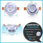 Hengda® 20X Downlight LED 3W Plafonniers 210 lumens Blanc froid pour la salle de séjour Adapté pour salle de bain Eclairage Spot encastrable au plafond IP44 de la marque Hengda image 1 produit