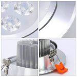 HENGDA® 3W 5W 7W 10X de 20x LED Spot Encastrable Plafonnier Lampe Spot Spot Set Blanc Chaud et Froid, 3W Kaltweiß, 10X 3.00 watts de la marque Hengda image 2 produit