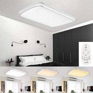 Hengda® 48W LED Plafonnier Moderne Mince Carré Dimmable LED Lampe de Plafond Pour Salon, Cuisine, Chambre à Coucher, Hôtel [Classe énergétique A++] de la marque Hengda image 0 produit